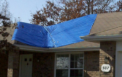 Houston Emergency Roofing Blue Tarp Service